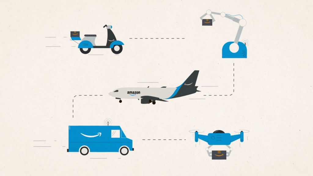 The process of Amazon delivery